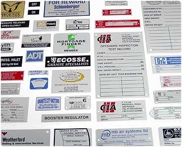 Nameplates & Testplates